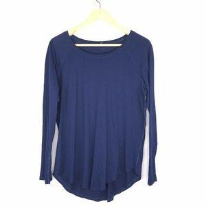 Lululemon Navy Blue Long Sleeve Thin T Shirt Size